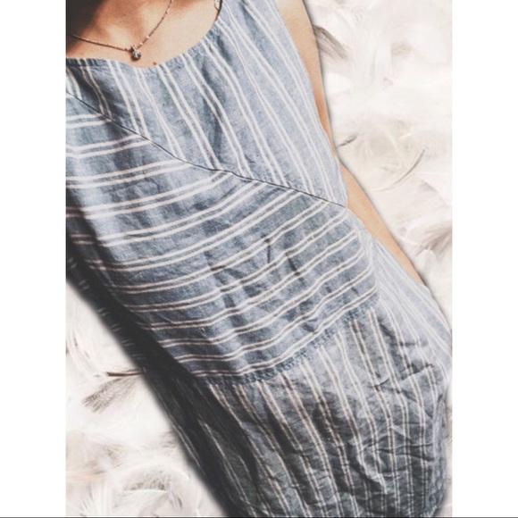 c442e1a95a9 J. Jill Dresses   Skirts - J Jill Linen Blue   White Maxi Dress